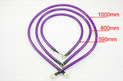 Grounding Ground Wire Performance Cable System Kit Purple Car Universal 5 Point