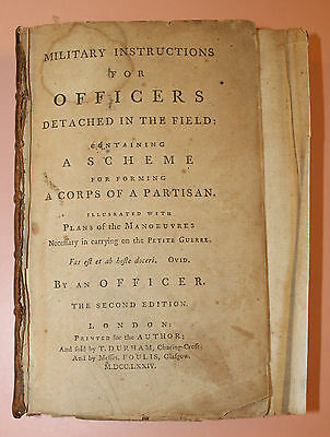 Extremely Rare 1774 BRITISH OFFICER FIELD TRAINING Book by Roger Stevenson MAPS