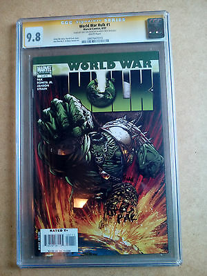 Cgc/ss 9.8 Marvel Comics World War Hulk #1 Signed G. Pak & D.finch White Pages
