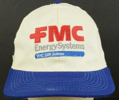 FMC Energy Systems OBV Subsea Gas & Oil vintage Baseball Hat Cap Adjustable