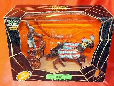 Lemax Spooky Town Halloween Collection Chariot Char Horses New In Box #83672