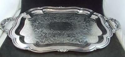 "Oneida MELON PLAIN Silverplate 25"" Waiter Tray GREAT CONDITION"