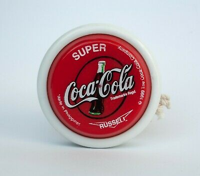 GREAT CONDITION 1999 Coca-Cola SUPER Yo-Yo Toy RUSSELL Company Red + string pack