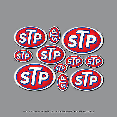 SKU2457 - STP Stickers - 11 Decals On An A5 Size Sheet - Karting