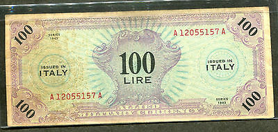 1943 Italy 100 Lire Circulated P-M15a