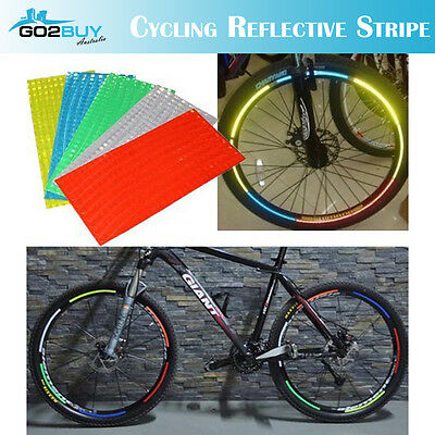 Reflective Strap Bicycle Wheel Tyre HiVi Stickers Cycling Motor Saftey Reflector