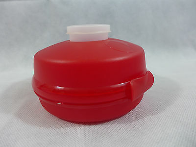 Tupperware Mini Salad Keeper With Smidget or Sandwich Keeper Too Red New NOS