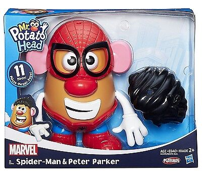 NEW! Hasbro Playskool Mr Potato Head. MARVEL. Spider-Man and Peter Parker. Toy