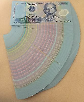 100 x 20,000 Vietnamese Dong Polymer SEQUENTIAL = 2 Million 2000000 VND 1 Bundle