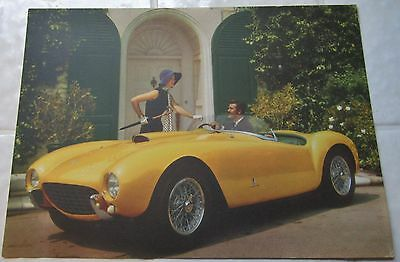 1950's Ferrari Postcard Original Factory Brochure Photo 410 Superamerica Italy
