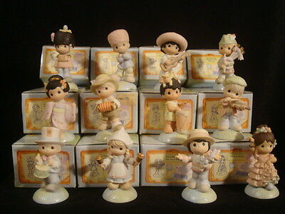t Precious Moments-RARE International Series Set Of 12-WITH BOXES