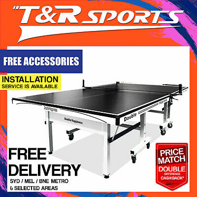2017 Model 16mm Double Happiness Ping Pong Table Tennis Table With Accessories