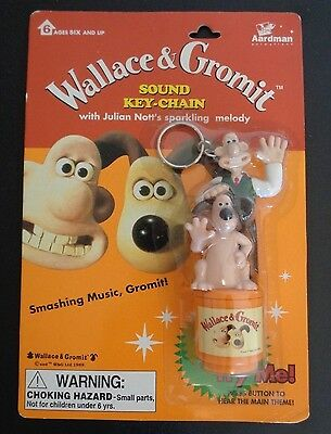 WALLACE & GROMIT Sound Key-Chain 1989 Plays Julian Nott's Sparkling Melody NEW
