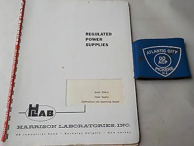 Hlab Harrison Model 800B-2 Power Supply Instruction & Operating Manual