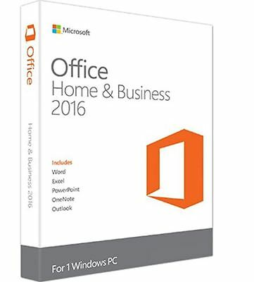 Microsoft Office Home And Business 2016 For Windows Sealed Full Retail Version