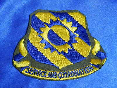 Original WWII 60th Service Group SERVICE AND COORDINATION Wool Patch VGC VT0016a