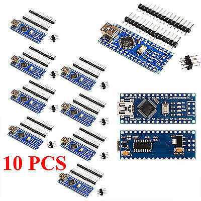 10 PCS Mini USB Nano V3.0 ATmega328 CH340G 5V 16M for Arduino Free Shipping UB