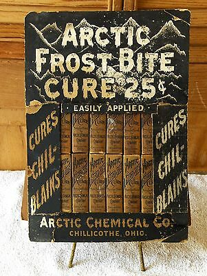RARE ARCTIC FROST BITE CURE NOS Store/Countertop DISPLAY w/12 PACKAGES, WOWZER !