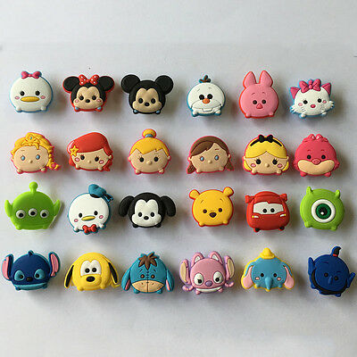 24pcs Tsum Tsum PVC Shoe Charms Accessories Fit Cro c&J ibbitz Christmas Gift