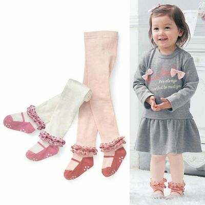 Toddler Baby Girls Princess Flower Cotton Long Socks Stocking Pantyhose Tights
