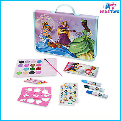Disney Princess Art Folio Set with Carry Case crayons markers stickers paints