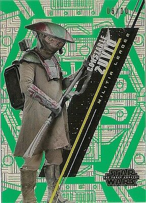 2016 Star Wars High Tek Constable Zuvio #/10 Green Cube Diffractor #sw-57