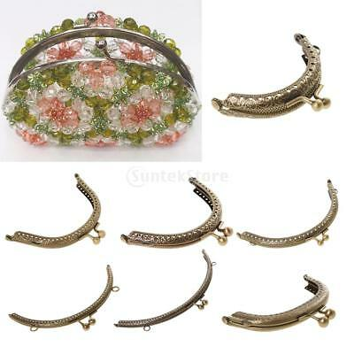 Emboosed Coin Bag Evening Purse Handle Metal Frame Kiss Clasp Fastener Wholesale