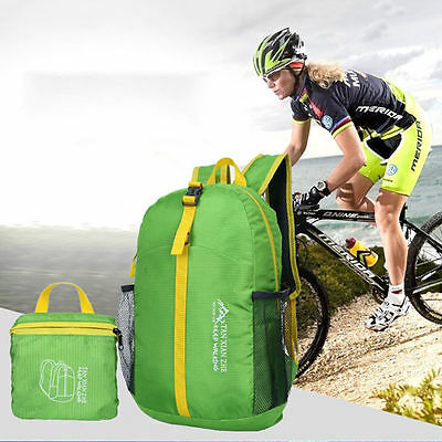 Ultraligh Foldable Waterproof Backpack Hiking Bag Camping Travel Sport Day Pack