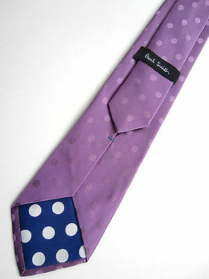 Paul Smith Tie 8cm Embroidered Floral Tie Violet 100% Silk Made In Italy Kleidung & Accessoires