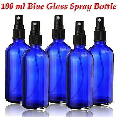 100ml Cobalt Blue Glass Bottle With Fine Mist Spray For Aromatherapy Perfume