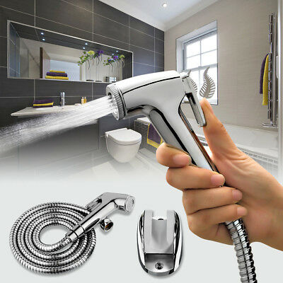 Handheld Bidet Toilet Shattaf Adapter Kit Sprayer Shower Wall Bracket Set US