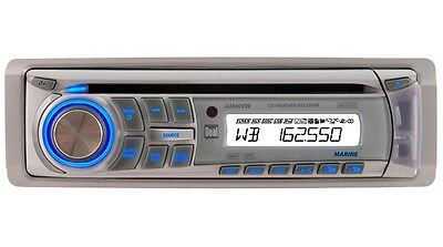 Dual AM400W iPod USB Marine Stereo with GEN DUAL WARR