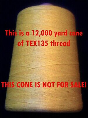 50 yd heavy TEX135 DuPont KEVLAR Thread - Shoe + Boot Repair Leather sewing etc.