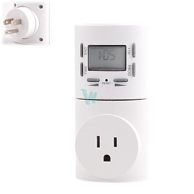 Digital Programmable Timer Wall Home Plug-in Switch Socket With Removable Panel