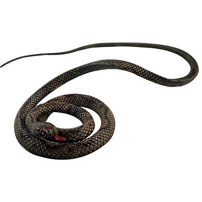 130cm Brown Animal Model Rubber Snake Realistic Reptile Toy New