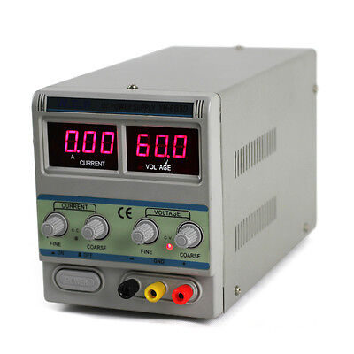 Adjustable 0-60V 5A Precision DC Power Supply WEP605D Dual LED Digital Display
