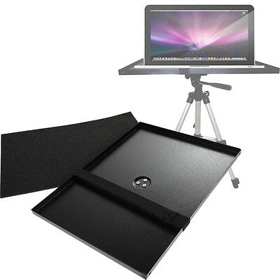 """Metal 7""""-15"""" Laptop/Projector Tray Holder For 1/4"""" Screw Tripod Mounts + Stands"""