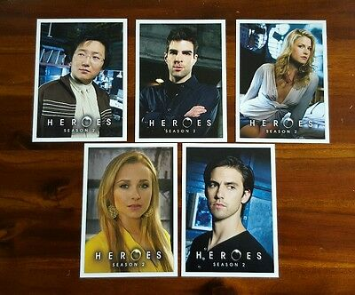 Heroes tv show collectible postcards - set of 5