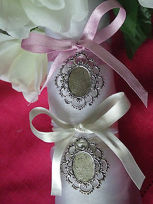 Wedding Bride Bouquet Antique Vintage Style Memory Photo Cameo Charm on ribbon