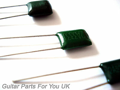 GREEN MEANIE 2 pack capacitors 0.022, 0.033, 0.047, 0.001  electric guitar tone