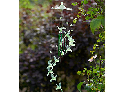 Glow in The Dark Hummingbird Wind Chime Garden Ourdoors Night