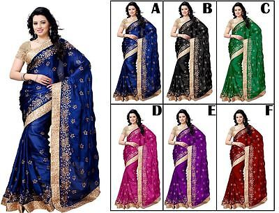 Indian Bollywood Style designer Saree sari wedding Wear ethnic Traditional sari