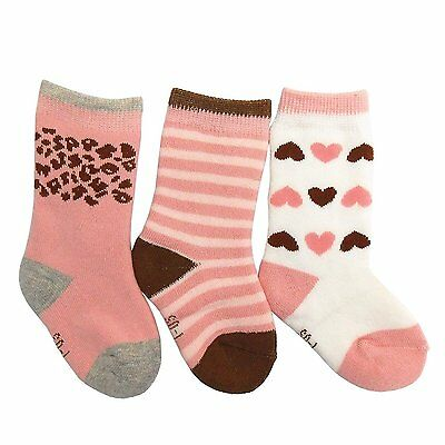 Sayoyo Baby Sock Cute Cotton Short Crew Socks Infant Toddler Soft Comfy 3 Pairs