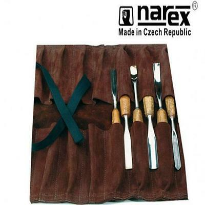 Narex 899600 14 Pocket Carvers Tool Roll Quality Soft Leather Tool Chisel Roll