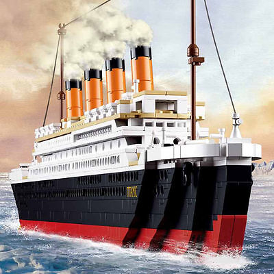 Titanic Ship Building Blocks Sets Toys Boat Model Kids Gifts Compatible Lego
