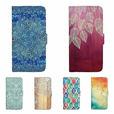 Vintage Pattern Print Wallet Flip Case Cover For Apple iPhone 5 SE 6 7 Plus 224C