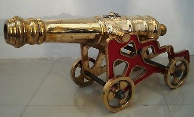 LARGE Marine BRASS CANNON with STAND –  Best Collection – Heavy - RARE