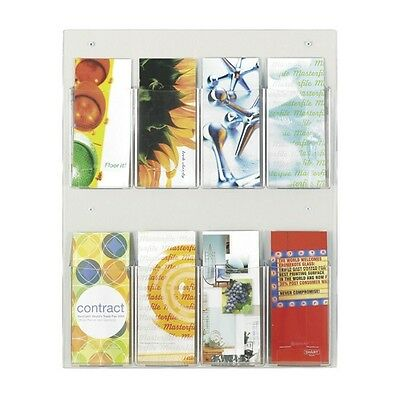 Safco Clear2c 8 Pamphlet Display - 5673CL