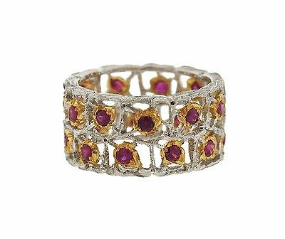 Buccellati 18K Gold Ruby Eternity Band Ring