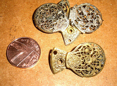 Two Antique Old  Victorian Or Georgian? Watch Cock Brooches Or Pins